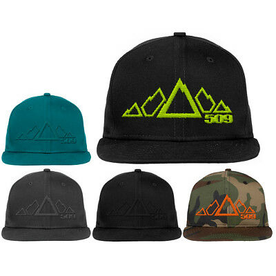 509 Snowmobile 5 Peak New Era Snapback Hat Adjustable Baseball Cap Mountain