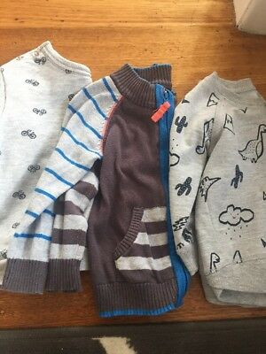 Boys Jumpers Size 1 Bulk Long Sleeved Baby Boy Size 1 Winter Jumpers