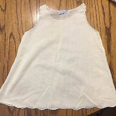 VTG Pemae 1950s 12M  Baby Yellow HandMade Slip Dress Philippines Size 1 Year
