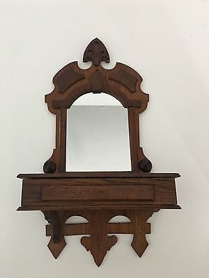 Vintage Wall Hanging Shaving Stand Folk Art 1930's