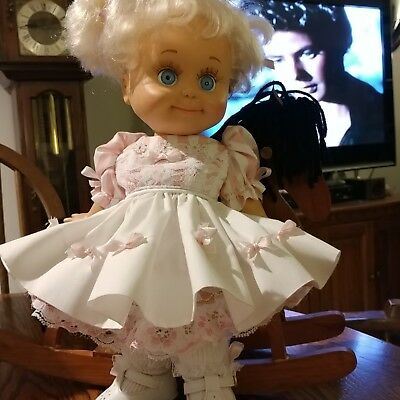 Galoob Baby Face Baby Pink and White dress by Pamela's Designs