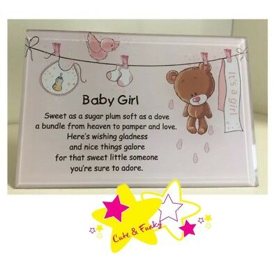 Brand New Its a Girl Baby Girl Plaque Frame New Born Gift Nursery