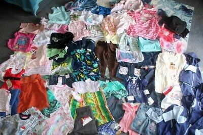 BRAND NEW - BULK mixed Lot of CHILDRENS/BABIES CLOTHES over 70 items Mixed lot