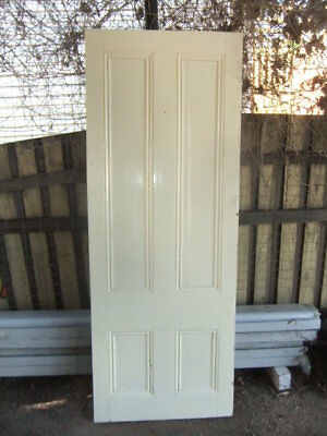 ORIGINAL VICTORIAN 4 PANEL TIMBER DOOR 692 w x 1875 h recycled house period old