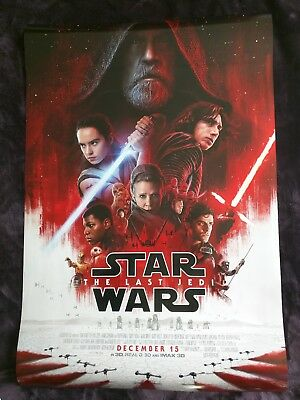 Star Wars The Last Jedi Authentic ORIGINAL Double-Sided DS 27x40 Movie Poster