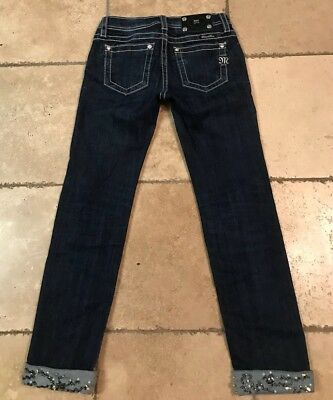 Miss Me Buckle Skinny Jeans * Girl'S Size 12 * Super Cute! * Nice!