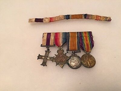 WW1 Military Cross group of four with full size ribbon bar