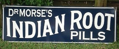 Dr Morse Indian Root Pills Enamel Sign 900Mm X 300Mm (Made To Order) #21
