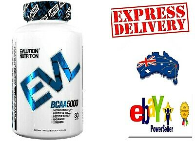 EVLution Nutrition BCAA 5000 | 240 Capsules | 30 Servings | Build Lean Muscle