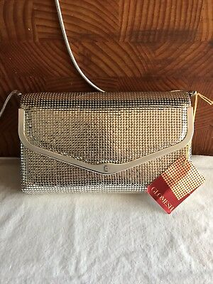 Vintage Silver Glowmesh Bag With Tag And Box