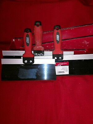 """Wal-Board Tools and mud pans 14"""" plus 10"""" taping knife used 1 job."""
