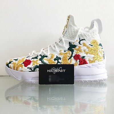 "Kith X Nike Lebron Performance Xv ""long Live The King"" White Multi - Size 7 - 13"