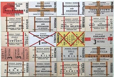 VR Tickets - 20 x mixed Melbourne Suburban tickets