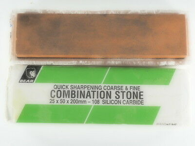 Used Bear Combination Sharpening Stone, Old Stone (H9)