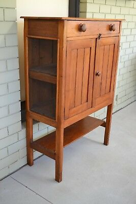 Antique Rustic Kitchen Cabinet/meat Safe/pantry/baltic Pine?
