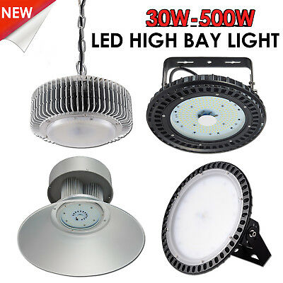 30W-300W LED High Bay Light Cool White Warehouse Industrial Factory Gym Lamp