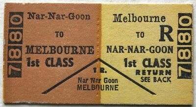VR Ticket - NAR-NAR-GOON to Melbourne - 1st Class Return