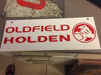 Oldfield Holden Sign Perspex Plastic Sign