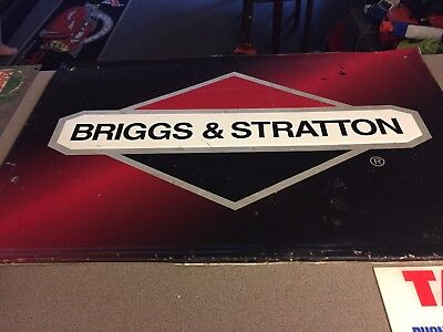 Briggs and Stratton Metal Advertising Sign Car Auto Part Advertising