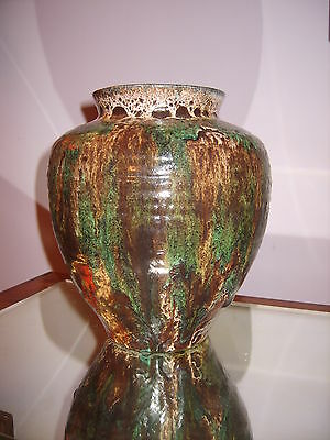 Superbe Vase Balustre Accolay Vers 1950