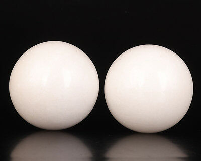 2 Natural Jade Massage Tool Ball Old Health Hairdressing Collection