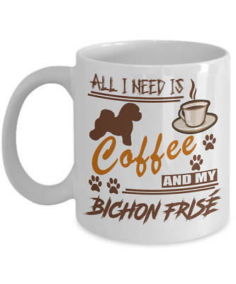 BICHON FRISE DOG,  coffee Mug