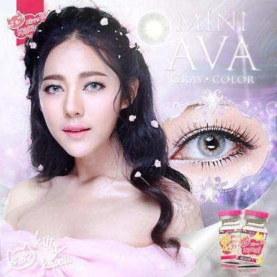 KITTY KAWAII MINI AVA*CONTACT LENSES*BROWN,GRAY,BLUE*1 MONTH * 0.00 to -5.00 *