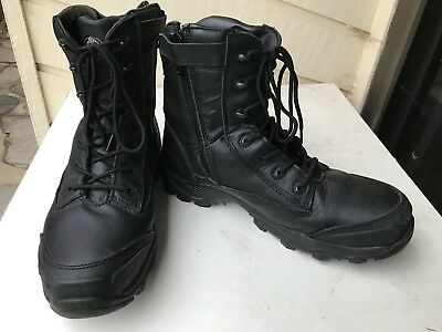 Bata Industrial Safety Zip Sided Boots Black Size 9.5