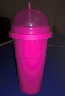 New HOT PINK Slushie Maker Icy Drink Tumbler