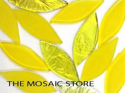 Yellow Mix Glass Petals - Mosaic Supplies Tiles Art Craft
