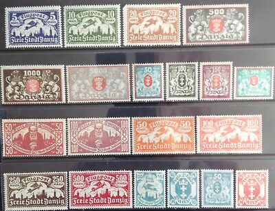 Germany - Danzig issues 1923 MNH/MLH & Used