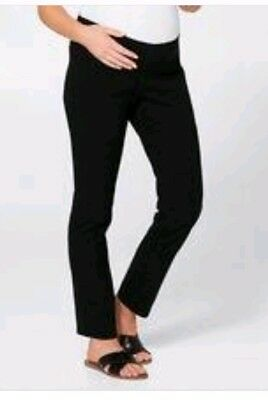 TARGET WOMEN'S Pregnancy Maternity Pants M 12 Skinny BLK Belly Band WORK OFFICE