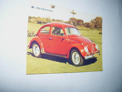 Weetbix Sanitarium The Young Motorists Book Of Cars No.24 Volkswagon Card
