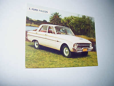 Weetbix Sanitarium The Young Motorists Book Of Cars No.7 Ford Falcon Card