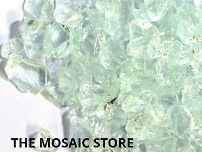 Clear Tumbled Glass Pieces - Mosaic Tie Art & Craft Supplies