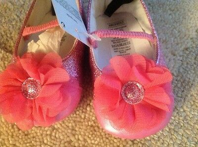 Baby Girls Brand New Dolly/ Pram  Shoes - Stunning 6/9 Months - Pink