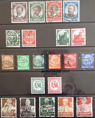 Germany Third Reich 1934 issues MNH & Used