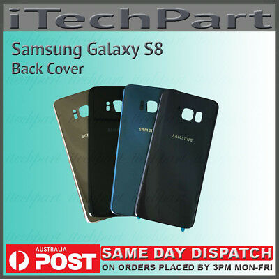 Samsung Galaxy S8 G950 Back Glass Housing Panel Battery Door Cover Replacement