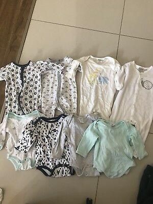 Bundle Lot Of Baby Boy Sleepsuit Clothes Rompers