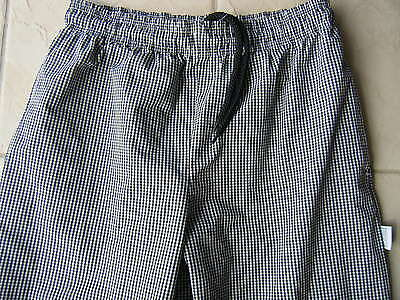 Black & White Check Catering / cooks Pants Size M / 34 -36in