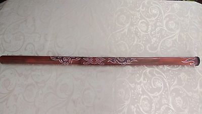Vintage Wood Didgeridoo Music Instrument Hand Painted/Decorated Art 125cm