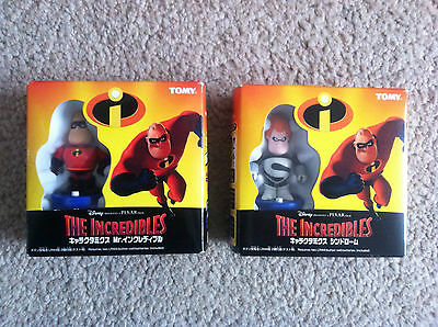 The Incredibles - Mr Incredible & Syndrome Figurines - Highly Collectable - New