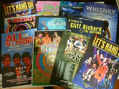 Assorted Tribute Act Flyers...Bowie...Whitney...Beatles...Little Mix...& others