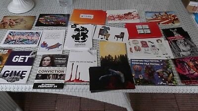 BULK LOT of Avant promotional postcards x 70 -20 designs (1-6 of each) free post