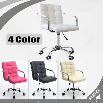 Luxury PU Leather Office Chair High Back Swivel Executive PC Computer Desk New
