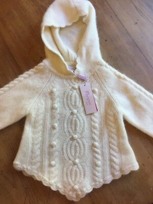 Baby Girls MONSOON UK Hooded Cable Knit Jumper Sweater #SundayMarket NEW 12-18m