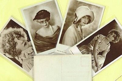 ROSS VERLAG - 1920s Film Star Postcards produced in Germany #1095 to #1170