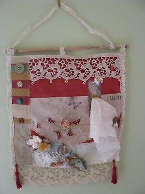 Handmade Vintage Style French Chic wall hanging