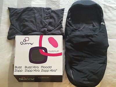 Original QUINNY General Footmuff in rocking black. For BUZZ, MOODD AND ZAPP
