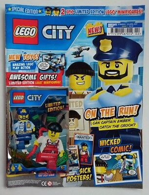 LEGO CITY Special Edition Magazine with 2 Limited Edition Minifigures #1 Retired